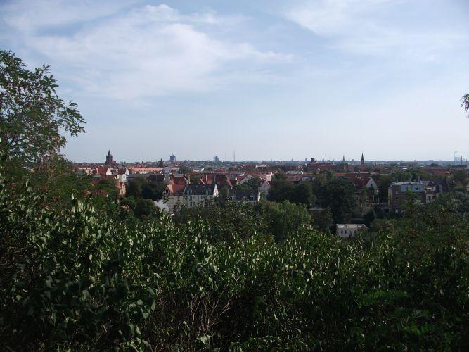 Halle -Ausblick vom Zoo