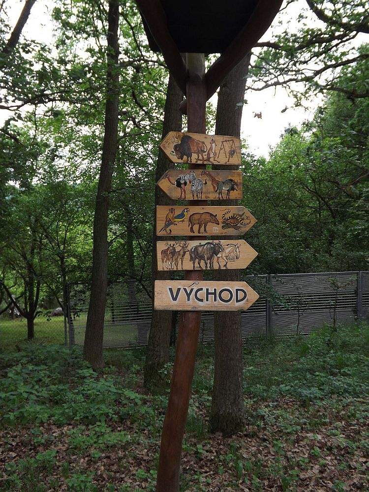 Wegweiser (Zoo Brno)