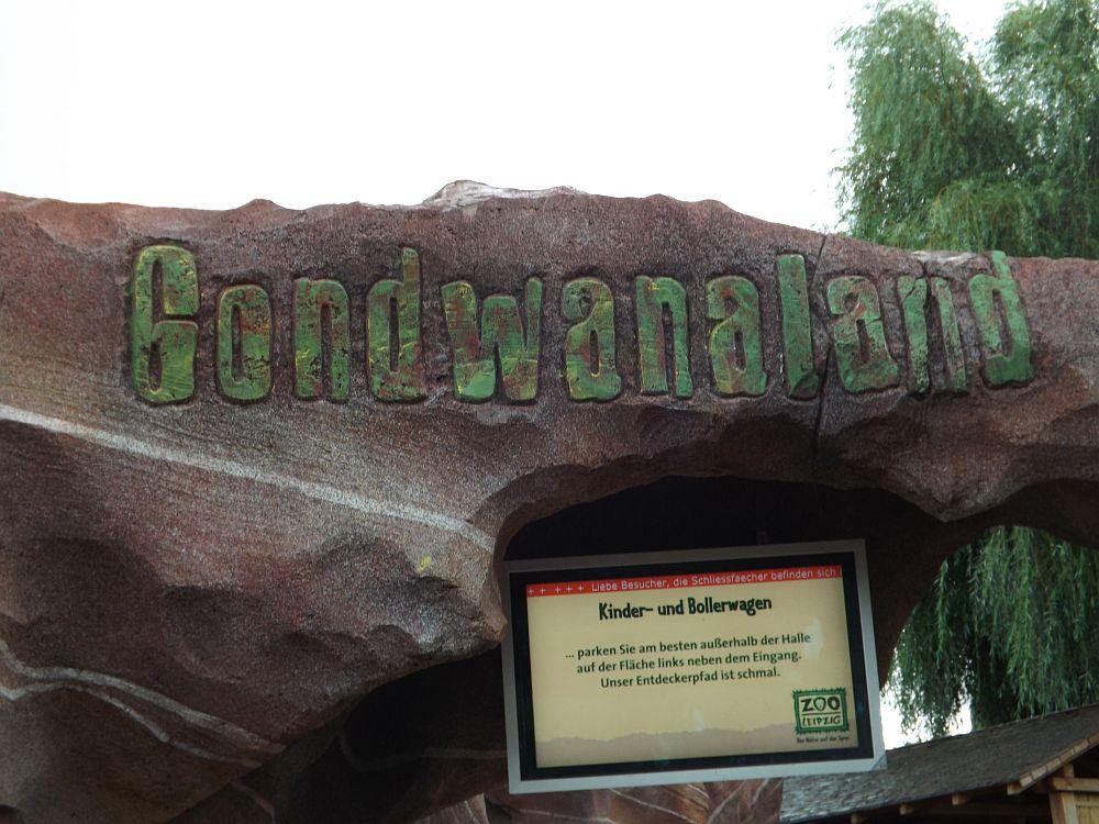 Gondwanaland - Eingang (Zoo Leipzig)