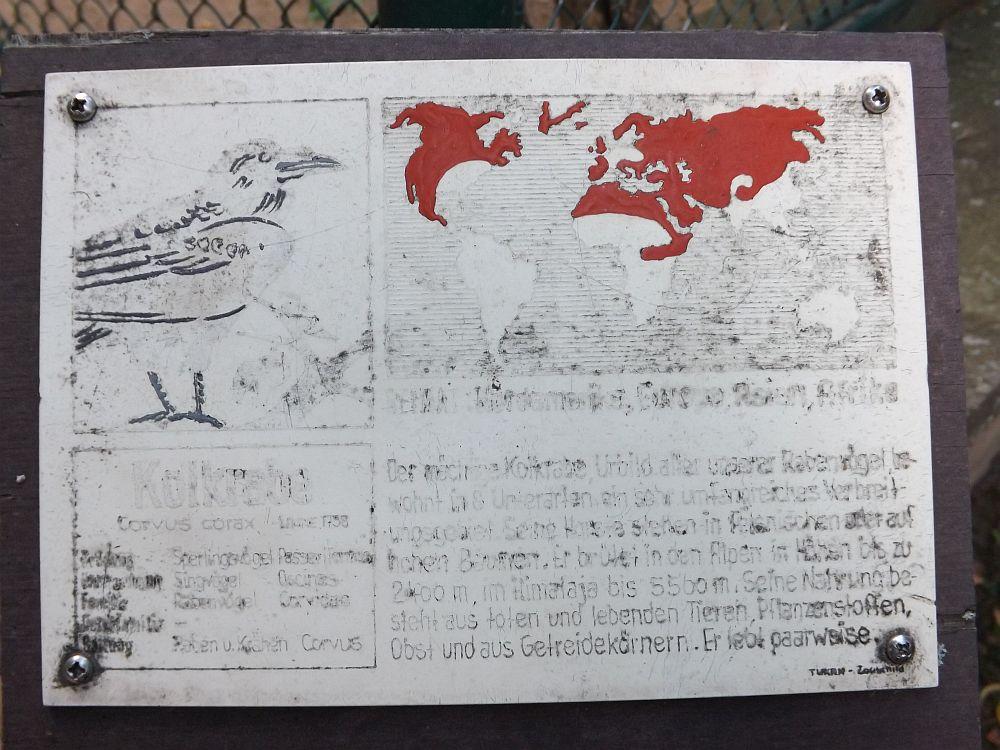 Tierschild-Beispiel im Tiergarten Bernburg