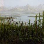 Diorama, Vor 400 Millionen Jahren, Erste Landpflanzen (Museum Mensch und Natur)