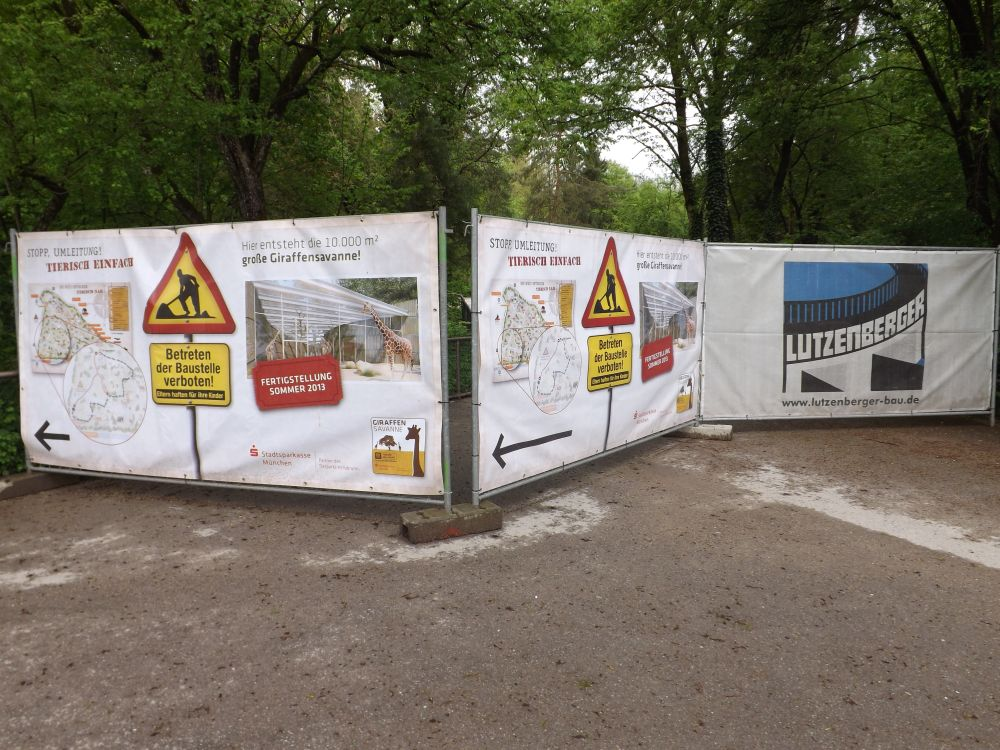 Baustelle Giraffensavanne (Tierpark Hellabrunn)