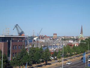 Blick aus dem IBIS in Rostock