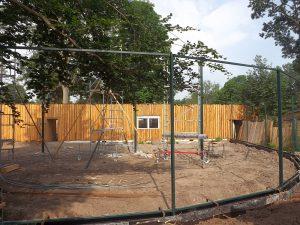 Baustelle Begehbare Voliere (Tiergarten Delitsch)