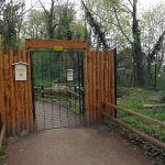 Eingang zur Flamingoanlage (Zoo Aschersleben)