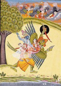 Garuda, Vishnu und Lakshmi