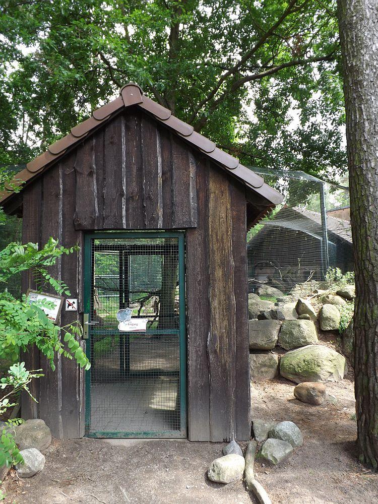 Eingang zur Schlieferanlage (Tierpark Cottbus)