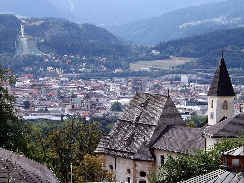Innsbruck vom Alpenzoo aus gesehen