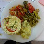 Teil des Salatbuffets der MS Linzerin