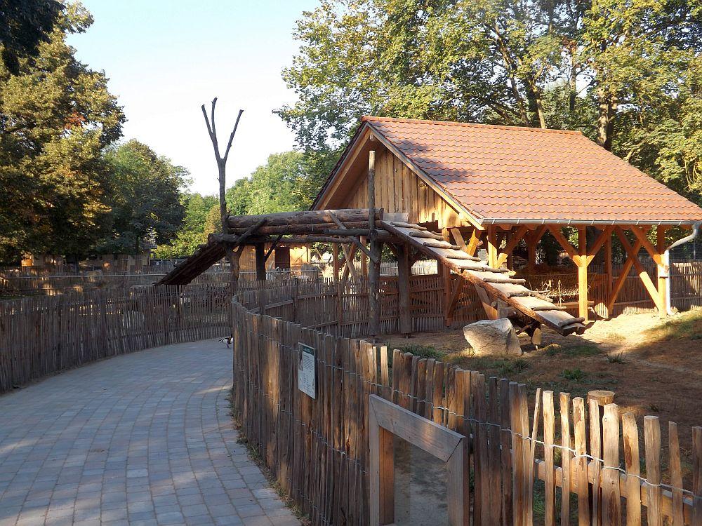 Ziegen im Bauernhof (Tiergarten Worms)