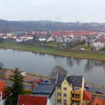 Blick vom Dom auf die Elbe