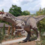 Eingang/Parkplatz/Allosaurus (Zoo Plzen)