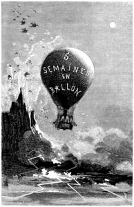 Cinq semaines en ballon (J. Hetzel & Cie, Paris 1863, illustriert von Riou und de Montaut)