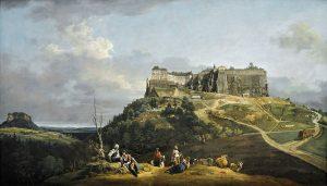 Die Festung Königstein, Gemälde von Canaletto (entstanden 1756–1758)